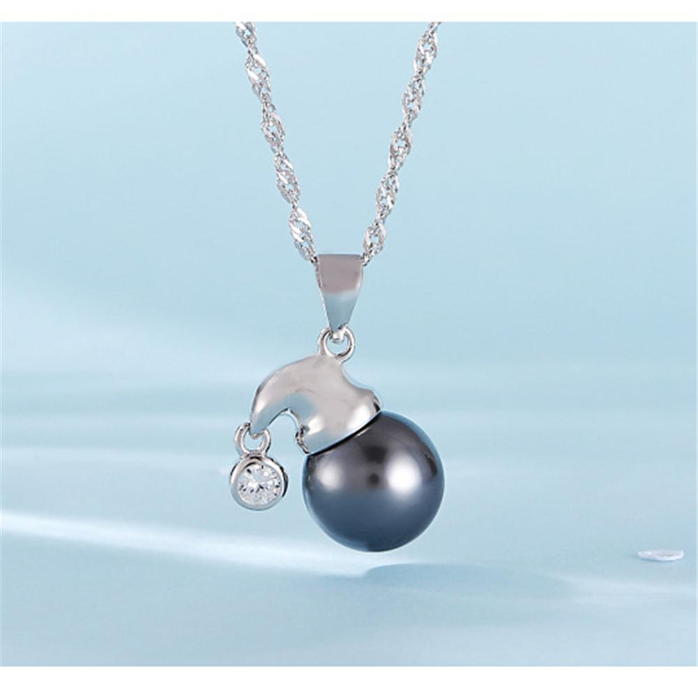 Cute Hat 100% Solid 925 Sterling Silver Gem Pearl Pendant Necklace Settings Mounting Semi Mount Christmas Women's Jewelry DIY Findings DZ070