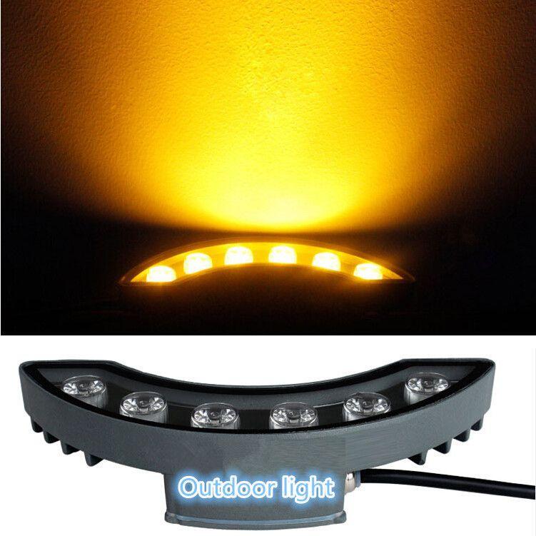 10pcs / lot 12W LED Corrugado de la lámpara caliente / fresco blanco / rojo / amarillo / verde LED luz de la luna de la calle impermeable al aire libre paisaje AC85-265V