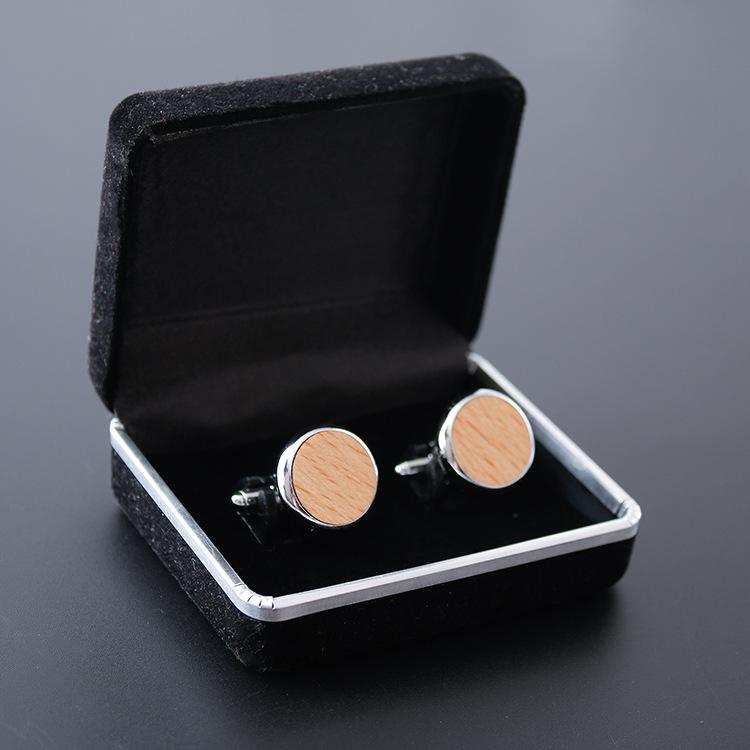 Fashion jewellery 2019 high end wooden mens accessories wholesale custom high quality button cuff sleeve button