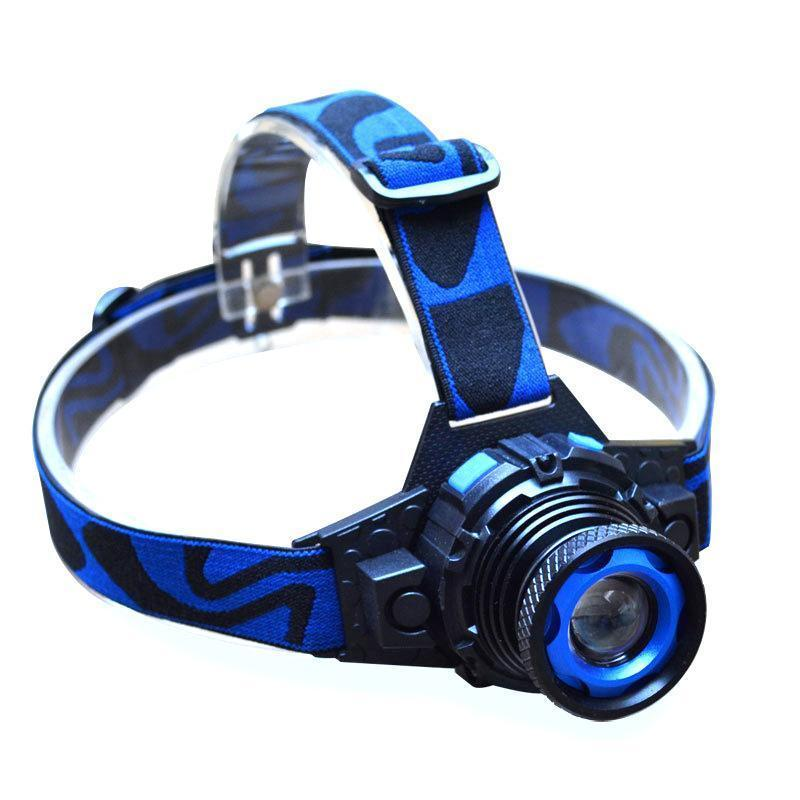Headlight Q5 Waterproof Led Headlamp 500lm Built -In Lithium Battery Rechargeable Head Lamps 3 Modes Zoomable Torch