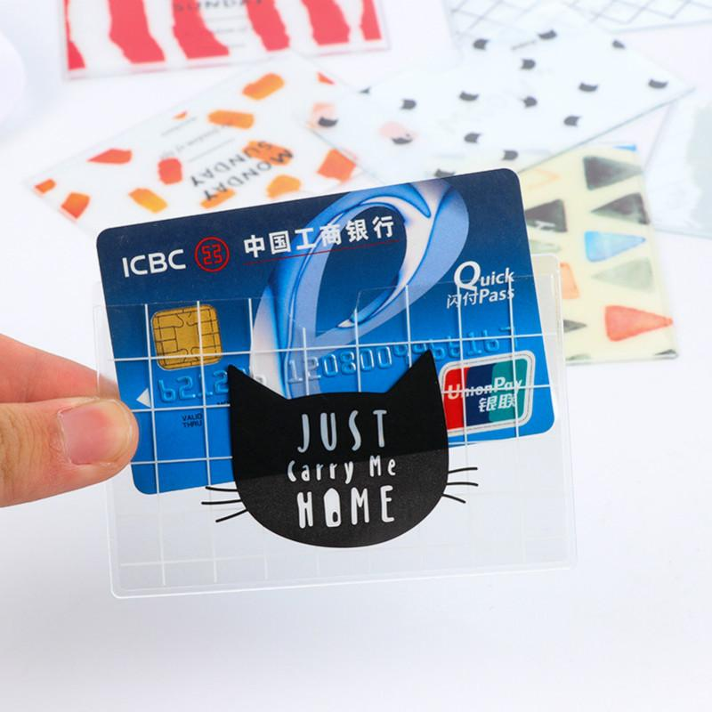 Nette Frauen-ID-Karten-Mappen-PVC Mann-Karikatur-Kartenhalter Kreditstudenten Pass Geschäft Bancaire Kartenhalter-Schutz