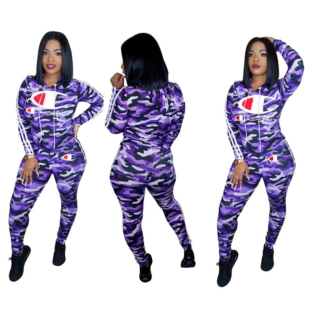 Womens trajes de manga longa 2 peças Jogo da camisa de treino de corrida Sportsuit leggings outfits calças moletom desporto klw0182 vestuário mulheres terno