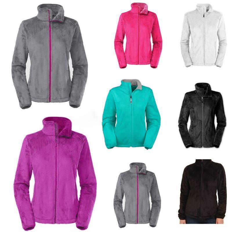Casual suave paño grueso y suave osito capas de las chaquetas de moda caliente del resorte del invierno de las señoras de los hombres de los niños de esquí hacia abajo de capas calientes de S-XXL Negro Rosa