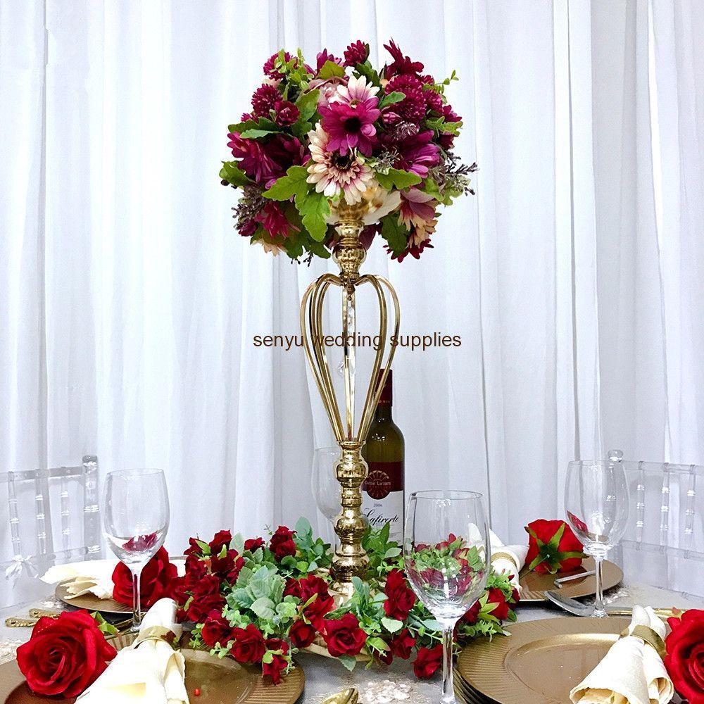 New Style Wedding Centerpiece Gold Metal Candle Holder Stand Decor senyu0213
