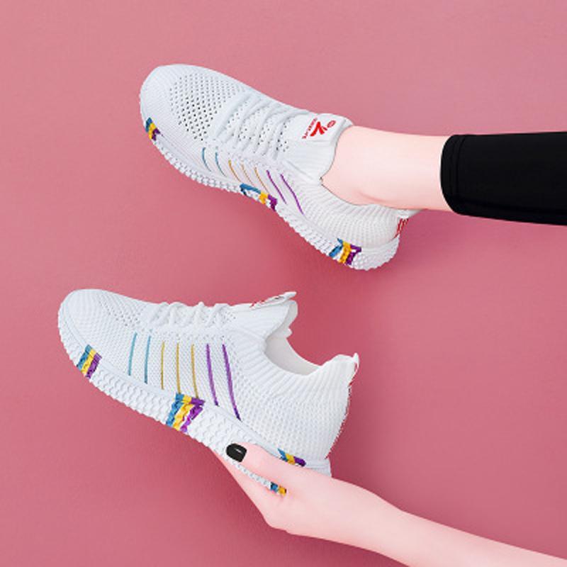 Siddons 2020 Designer strisce donne delle scarpe da tennis casuali respirabili Confortevole appartamenti delle signore Lace Up femminile scarpe da tennis correnti