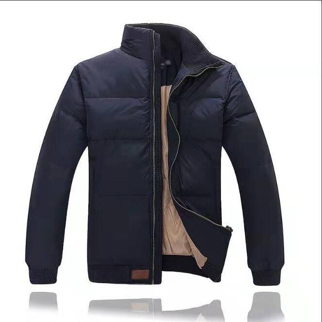 Hiver coton bas vestes mode hommes en duvet d'oie manteau en plein air veste coupe-vent épais velours dacasual homme vêtements chauds