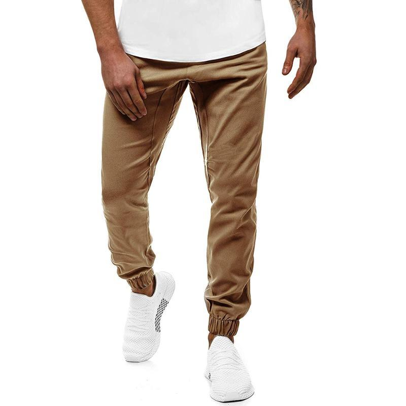 Men Pants New Type of Men's Casual Sport Pants with Small Feet and Loose Lapel In Pure Color