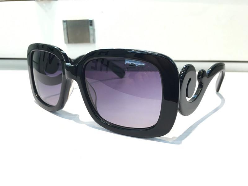 270s Роскошные дизайнерские солнцезащитные очки квадратная форма мода большое лицо ретро винтаж летний стиль женщины PD дизайнер полный кадр высокое качество с футляром