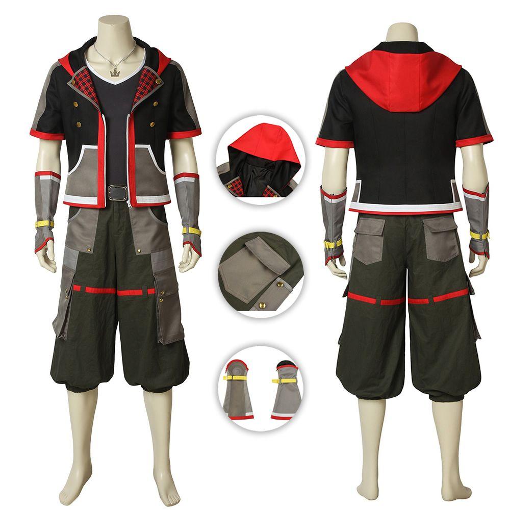 New Kingdom Hearts 3 III Sora Set Cosplay Costume