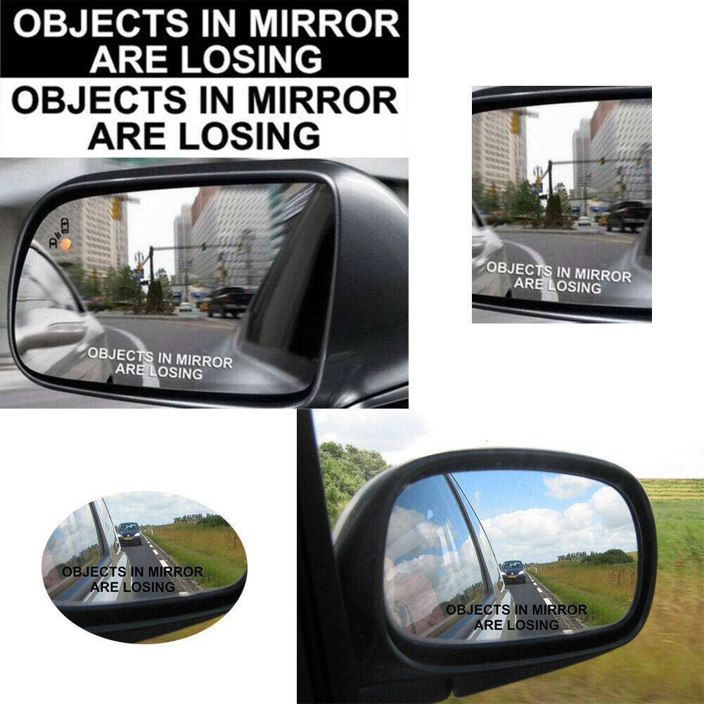 Objets Dans Miroir PERDONS fenêtre drôle de camion de voiture blanc décalque de vinyle autocollant frais Autocollant Mural en miroir