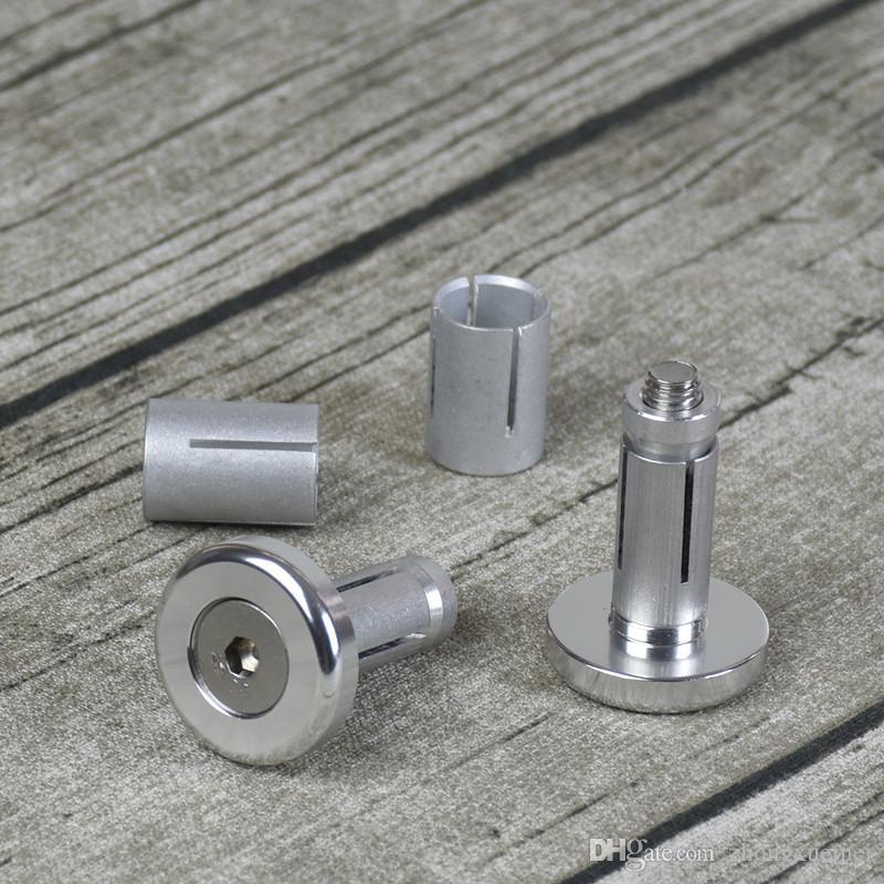 1 pair 14-18mm Vintage Motorcycle Aluminum Handlebar Grips Bar Ends Sliders CNC Handle Bars Grip Cap Plug Slider