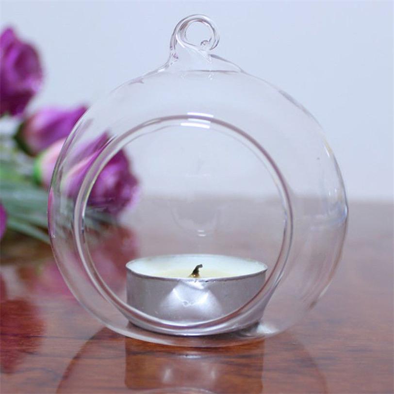Cristal de cristal que cuelga el sostenedor de la vela candelero casa boda del partido de la cena decoración Aug24 profesional precio de fábrica envío de la gota D19011702