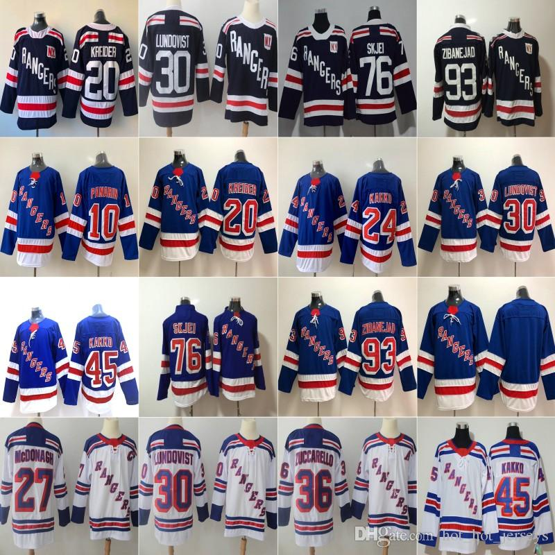 24 Kaapo Kakko 10 Artemi Panarin 30 Henrik Lundqvist 27 Ryan McDonagh Nash Skjei Mika Zibanejad Chris Kreider NY New York Rangers Formalar