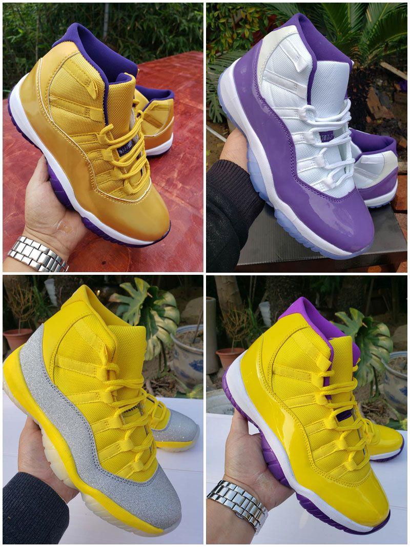 2020 Yeni RIP Mamba Jumpman 11 Beyaz Bred Metalik Gümüş Mor Erkek Açık Basketbol Ayakkabı 11'leri Kadınlar Sport Sneakers Zapatos