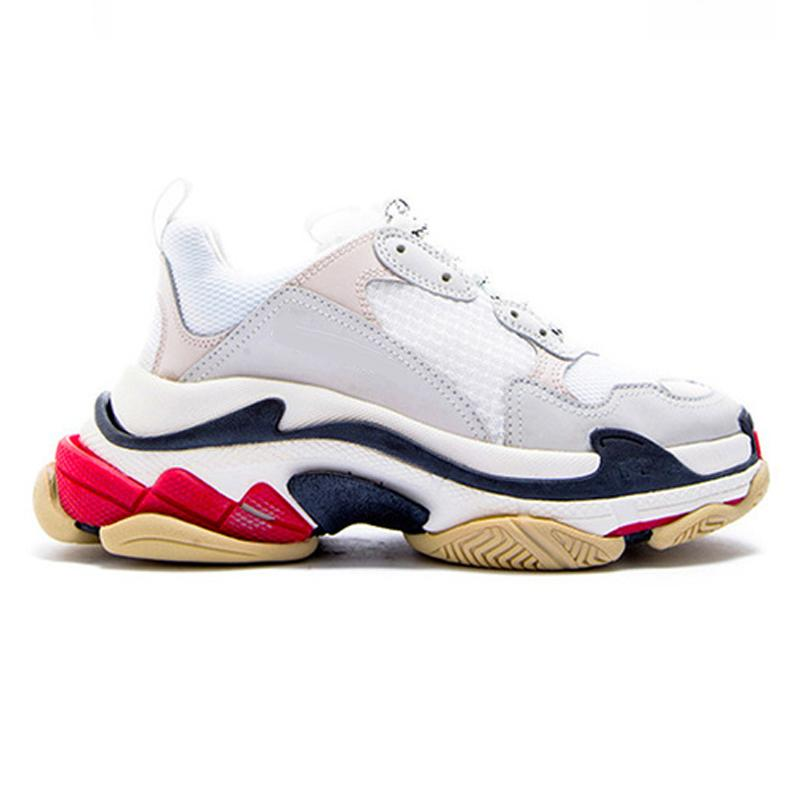 Triple-S fashion Paris 17FW Triple S кроссовки для мужчин женщин черный красный белый зеленый Повседневная обувь для папы теннис увеличение кроссовки бесплатная доставка