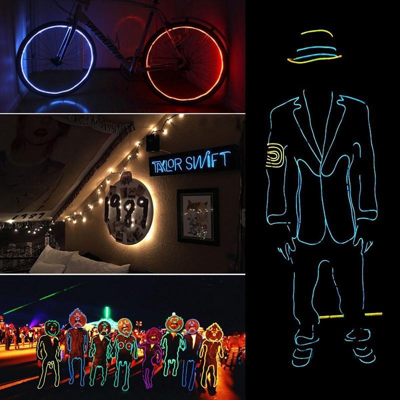 Dance Party Luz Neon Decor Luz Neon LED lâmpada EL fio flexível Corda Tubo impermeável LED Sinal de néon Faixa