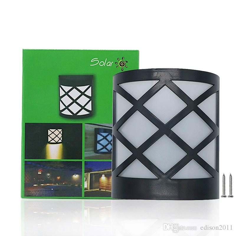 Edison2011 LED 태양 울타리 램프 방수 야외 태양 램프 1000mAh 화이트 / 따뜻한 화이트 / RGB 태양 담장 조명