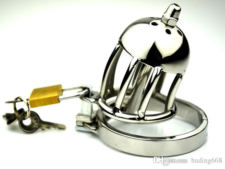 NEW Super Small Male Chastity Cage With Removable Urethral Sounds Spiked Ring Stainless Steel Chastity Device For Men A668