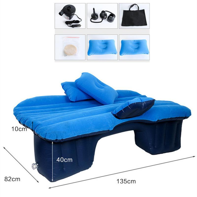 Universal Travel Mattress Bed Car Air Inflatable Travel Mattress Bed for Back Seat Multi functional Sofa Pillow Outdoor Camping Mat