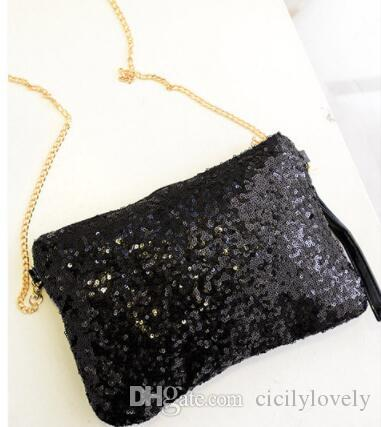 Women 2019 Women's Glitter Shimmer Envelope Ladies Sequins Evening Party Prom Smart Jane Clutch Bag Handbag