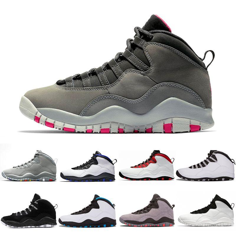 Gris fumée foncé 10 Desert Camo Westbrook Cement Hommes Chaussures de basketball 10s Cool Grey Orlando I'm Back Powder Bleu Sports de plein air Hommes Sneakers