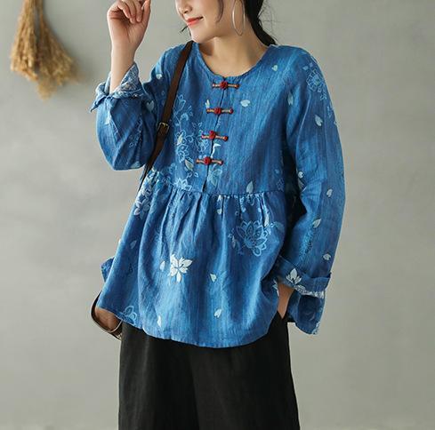 2020 de primavera y verano la camiseta mujeres sueltan el Todo-fósforo Jerseys Nueva Tops O-Cuello empalmado Imprimir Hembra ocasional retro camiseta
