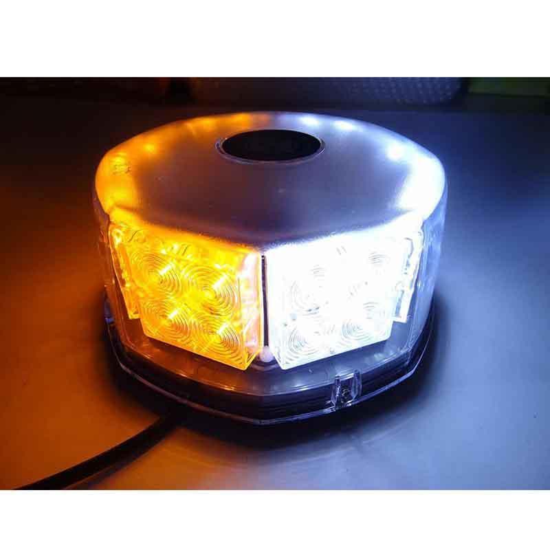 32LED 32W ad alta potenza tetto magnetico lampeggiante polizia di emergenza attenzione avvertimento luce stroboscopica per auto camion veicolo (giallo / bianco)