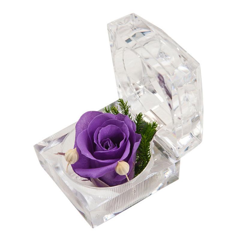 Ewige Blumen Rosen Box Valentinstag Künstliche Ring Hochzeit Geburtstag Muttertag Geschenke Wohnkultur Festival Partyangebot