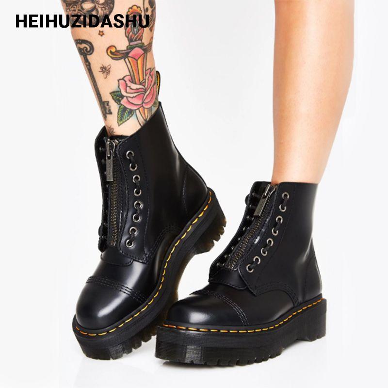 black platform boots womens