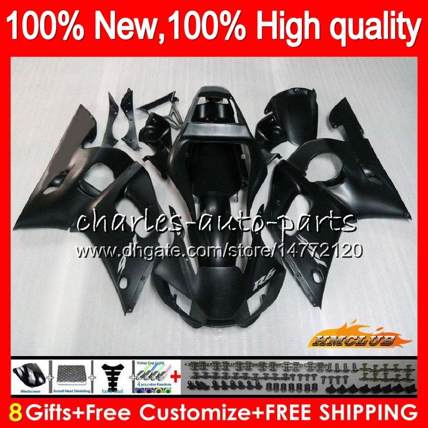 Кузова для YAMAHA YZF600 матовый черный YZF-600 600CC YZF-R6 YZF R 6 R6 58HC.14 YZF 600 YZFR6 98 99 00 01 02 1998 1999 2000 2001 2002 обтекатель