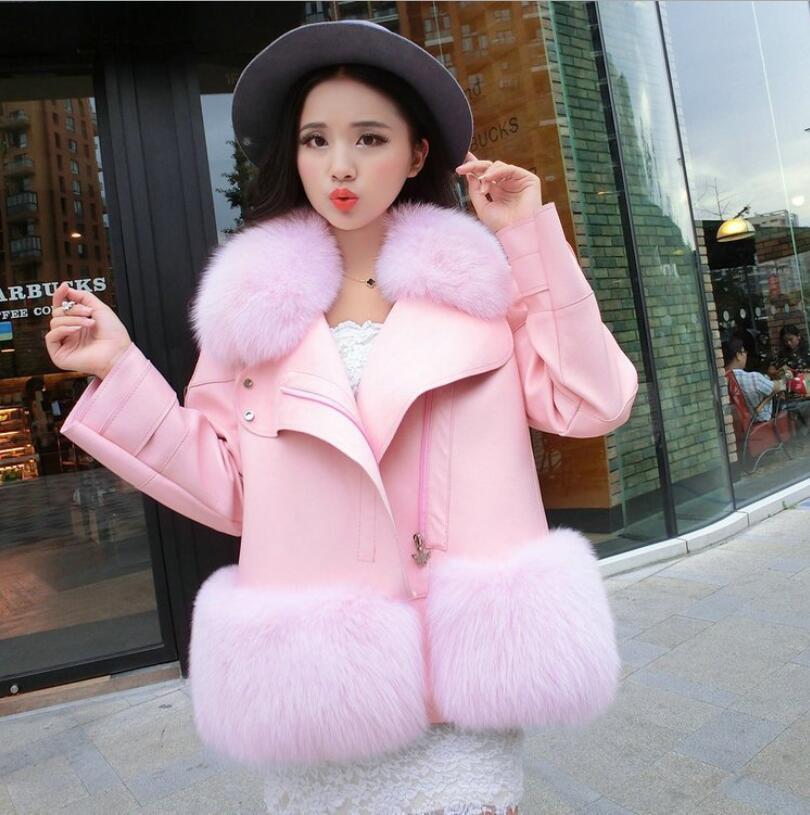 새로운 디자인 2018 패션 겨울 여성 모피 코트 여성 가짜 모피 Mujer 여성의 패치 워크 짧은 겨울 자켓 여성 가짜 코트