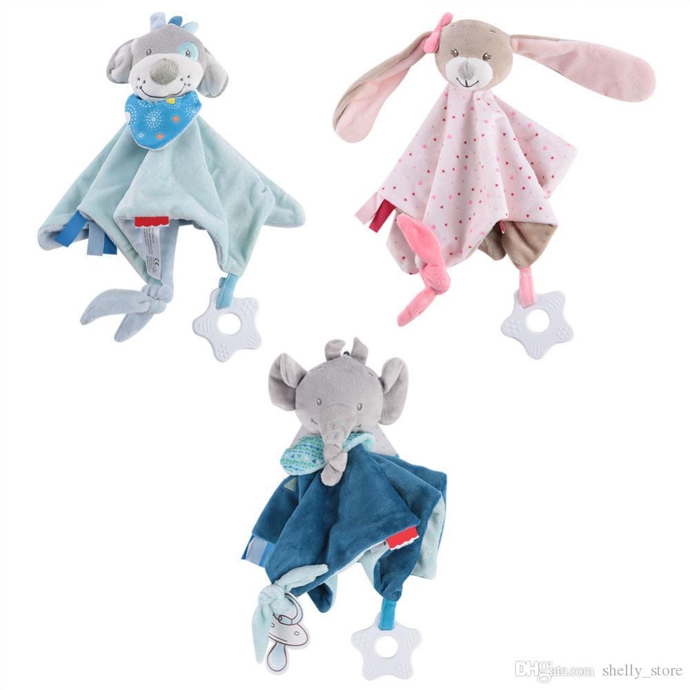 Baby-Säuglingstier Beruhigen Appease Tuch weicher Plüsch Comforting Toy Pacify Appeasing Handtuch Soothing Handtuch Baby-Plüsch-Spielzeug