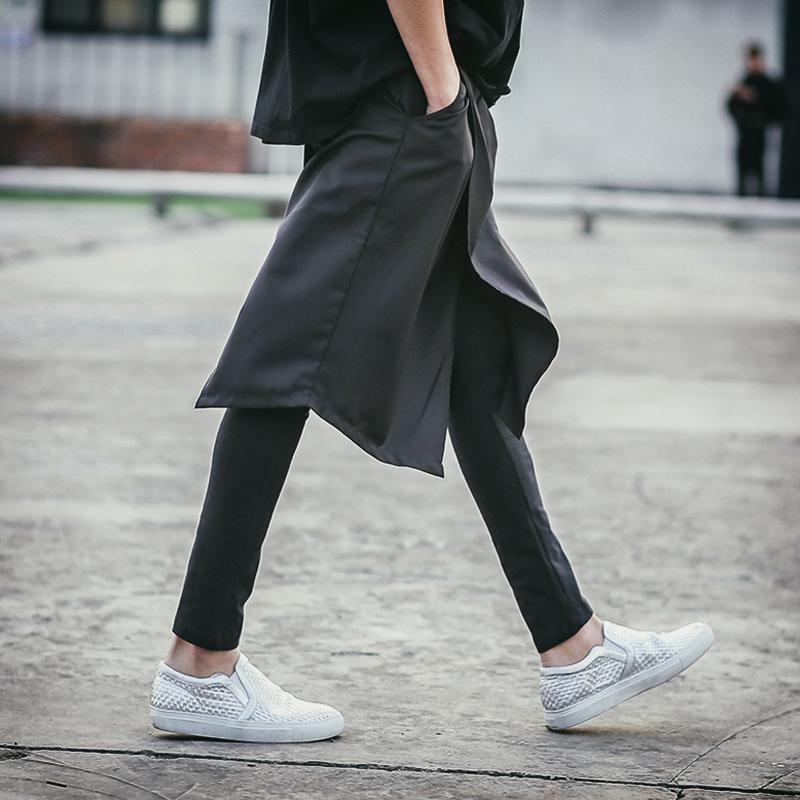 27-46 Nueva personalidad de vanguardia británica de ocio 2018 ropa de los hombres de moda del estilista GD sirve culotte más tamaño trajes