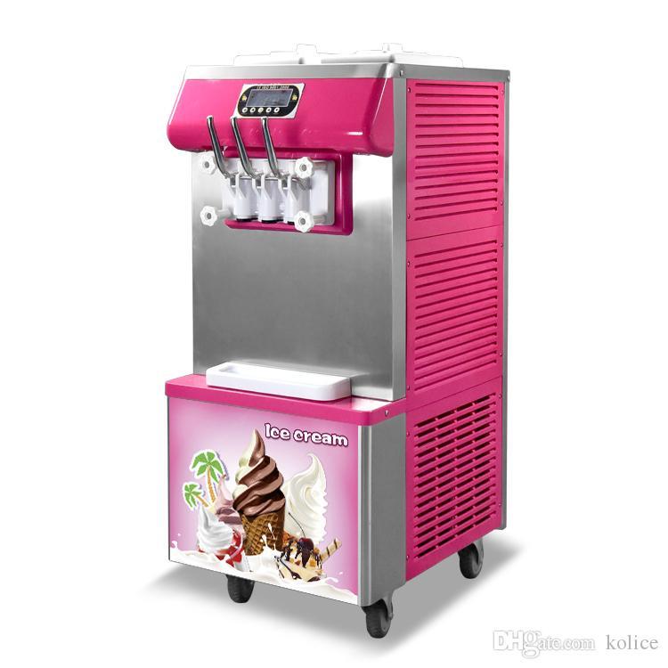 Freee envío ETL CE venta caliente Taylor 3 sabores suave de hielo máquina de crema de yogur helado suave máquina de helados con refrigerante completa