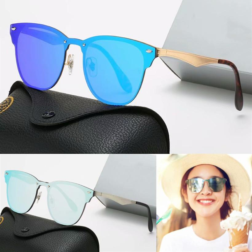 vaka ve kutu ile Sıcak Satış Marka tasarım Güneş Vintage Erkekler Kadınlar Pilot Güneş Gözlükleri UV400 Gözlük Metal Çerçeve Polaroid cam Lens