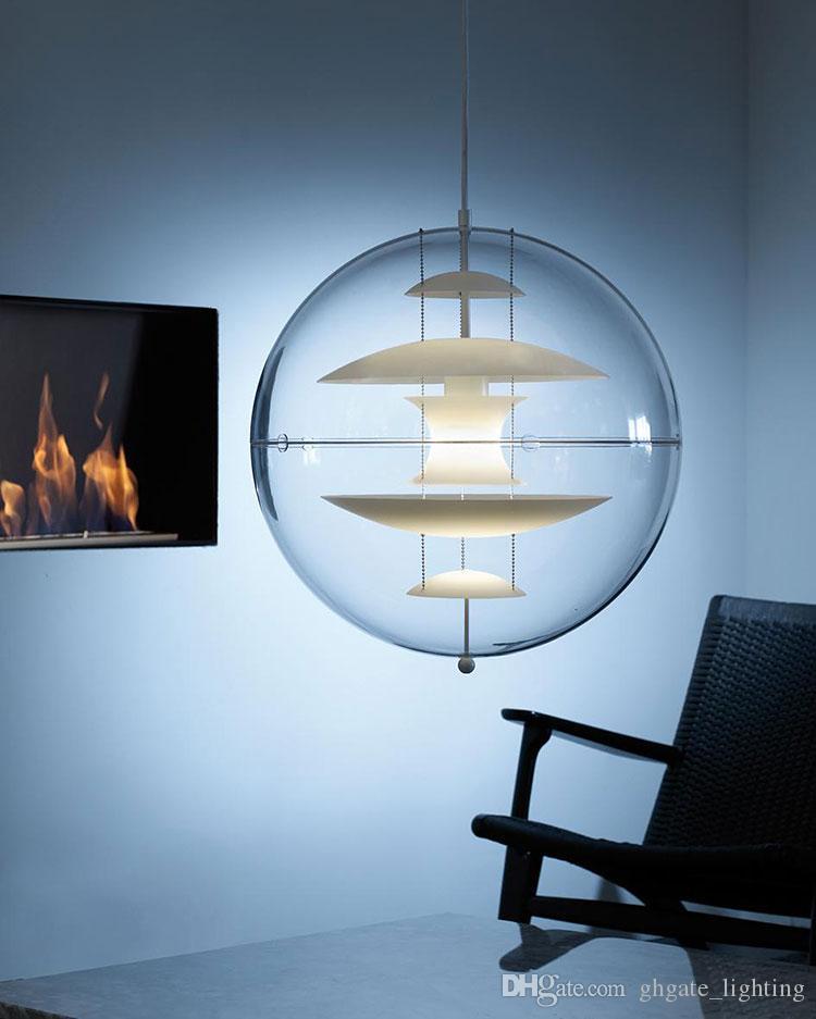 White Modern Verner Panton VP Globe Pendant Light Suspension Pendant Ceiling Light Chandelier Dining room Lamp Lighting Fixture
