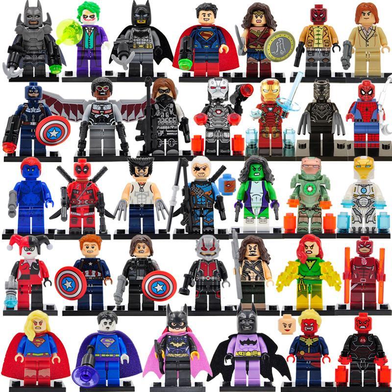 8PCS / 많은 마블 DC 슈퍼 minifigs 시리즈 액션 피규어 빌딩 블록 어벤져는 DIY 어린이 벽돌 장난감 기프트 컬렉션 인물