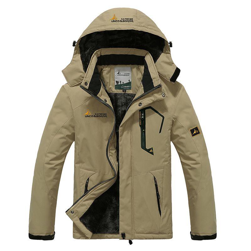 2019 가을 겨울 남성 자켓 양털 두꺼운 남성용 코트 윈드 브레이커 통기성 방수 남성 망 의류 6XL