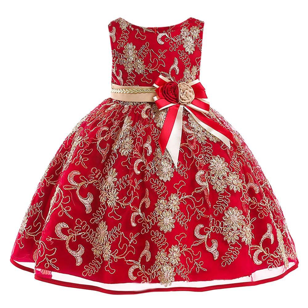 2018 Baby Girls Princess Dress Bridesmaid Pageant Birthday Party Wedding Dress