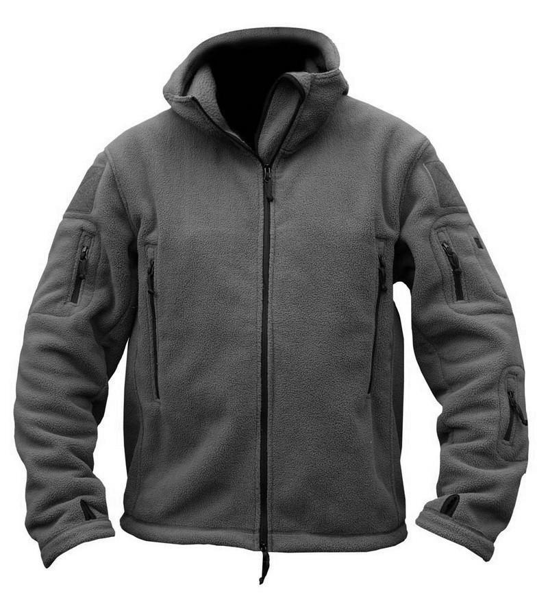 لنا رجل الصوف سترة التكتيكية الحرارية تنفس الرياضة الصيد القطبية مقنعين معطف ملابس خارجية الجيش