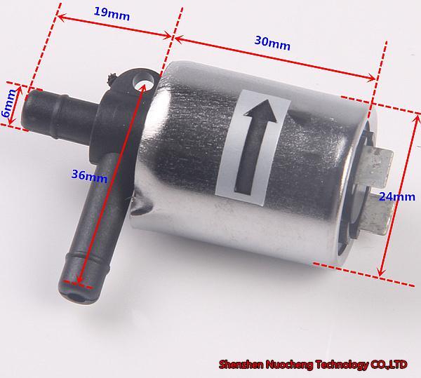 Совершенно новый 12 В электромагнитный клапан 6 мм водяной клапан нормально закрыть воздушный клапан для DIY, микро DC12V электрический электромагнитный клапан~