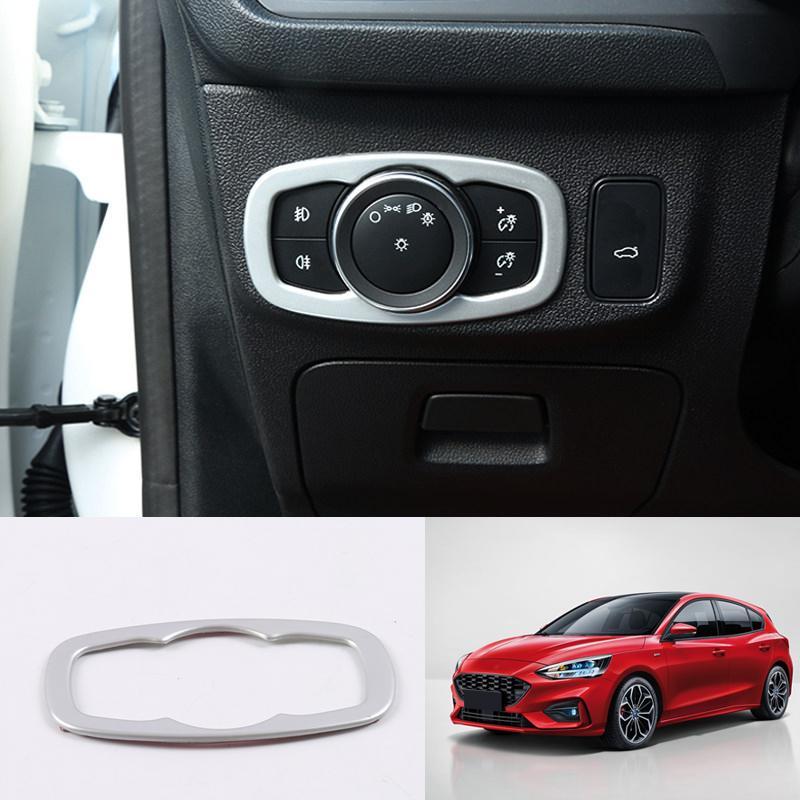 اكسسوارات السيارات التصميم 1PCS ABS البلاستيك الداخلية مصباح المصباح الغلاف تعديل تريم لفورد فوكس 2019 2020