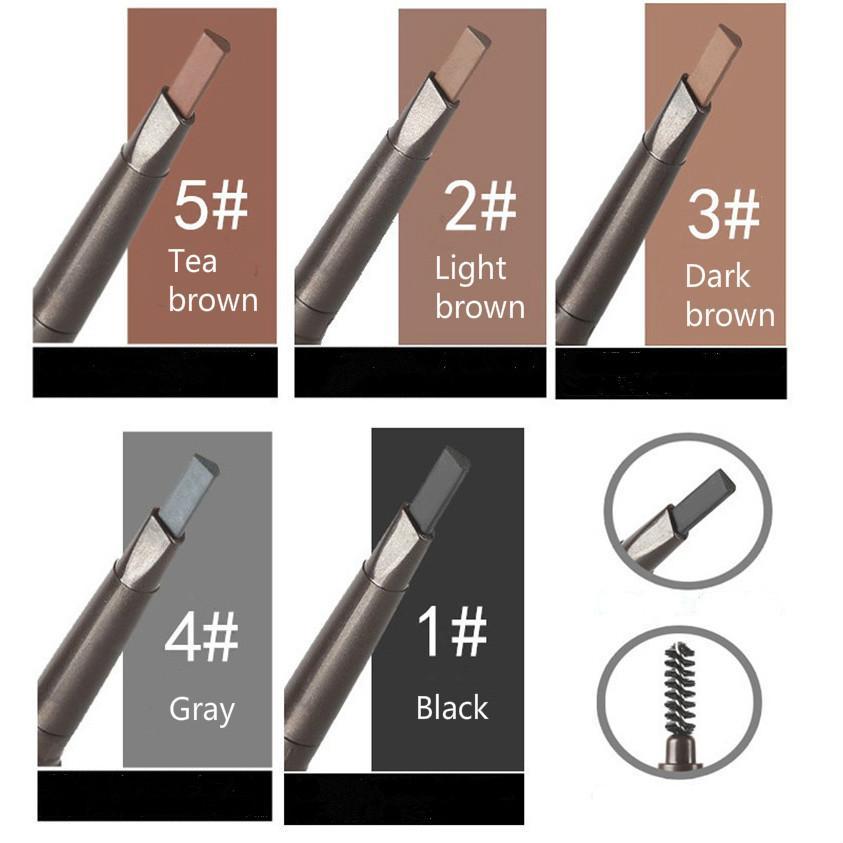 Макияж глаз длительный 5 цветов карандаш для бровей с кистью подводка для глаз для бровей длительная тень водонепроницаемый макияж краски бесплатная доставка