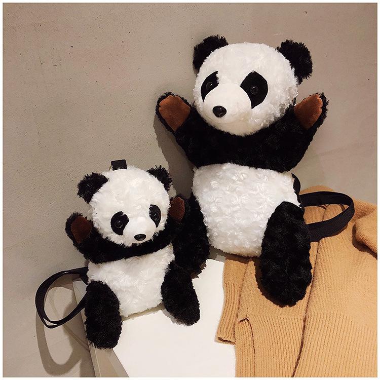 Panda Unisex женщин Mens для детей Студенты смазливая 2 Размеры мешка плеча Грудь сумка Креста тела рюкзак плечи сумка мультфильм B102160Z