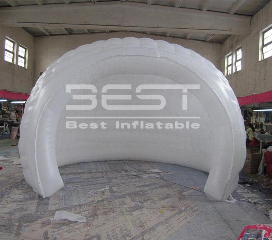 سعر المصنع الأبيض Igloo نفخ خيمة السلحفاة قذيفة خيمة قبة مزدوجة نفق للنادي الأحداث حزب مرحلة الاجتماع الديكور