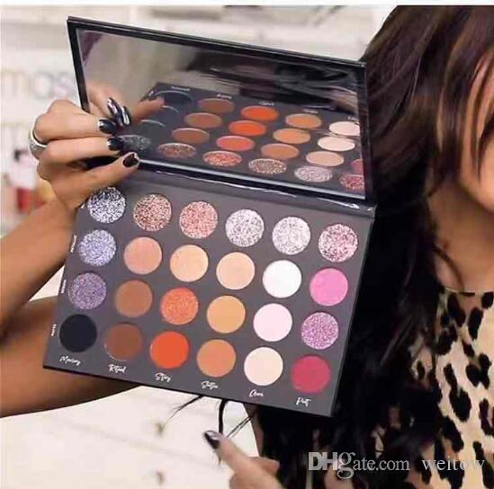 2019 TATI beauty eyeshadow powder Christmas Gifts 24 Color shimmer matte glitter lastingTextured Eye shadow Palette