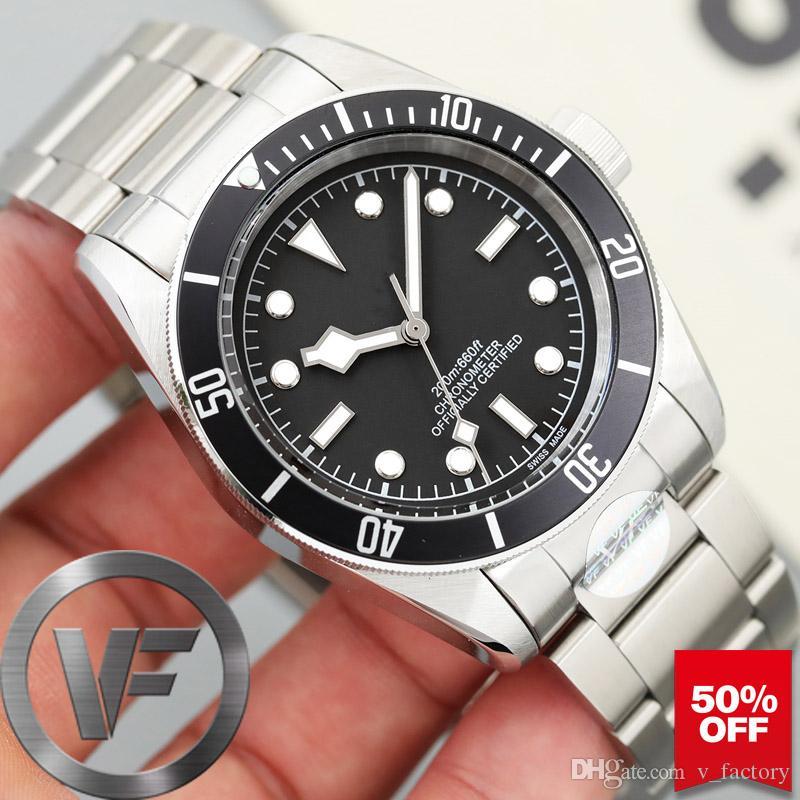 VFactory Sapphire Новые мужские часы Black Bay автоподзаводом Мода Мужские механические часы Спортивные мужские наручные часы