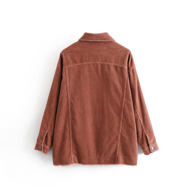 Tjjnz Europa e vestito da 2018 nuovo stile di autunno Corduroy disposizione della pelliccia del rivestimento delle donne del 2360'S America del DONNE