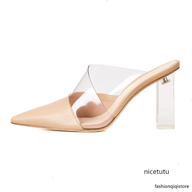 2019 New Moda em Couro Pointed Toe de salto alto 10cm Sandals Shoes Mulheres
