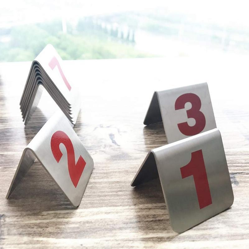 10 pezzi di metallo tenda numeri di stile Tavolo impilabile, segnaposto adatto per Ristoranti Caffè Bar e incontri personali. (Numero